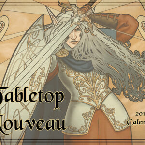 Tabletop Nouveau 2018 Wall Calendar