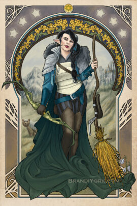 The Only Way to Really Grow Vex'ahlia art nouveau piece